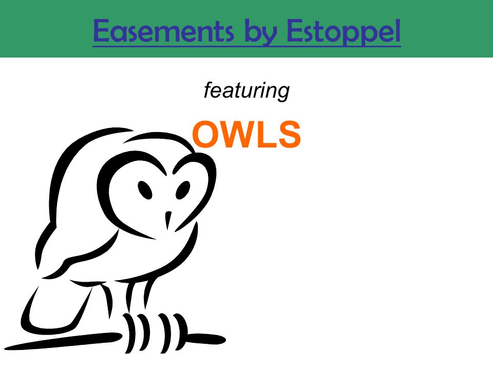 Easements by Estoppel featuring OWLS