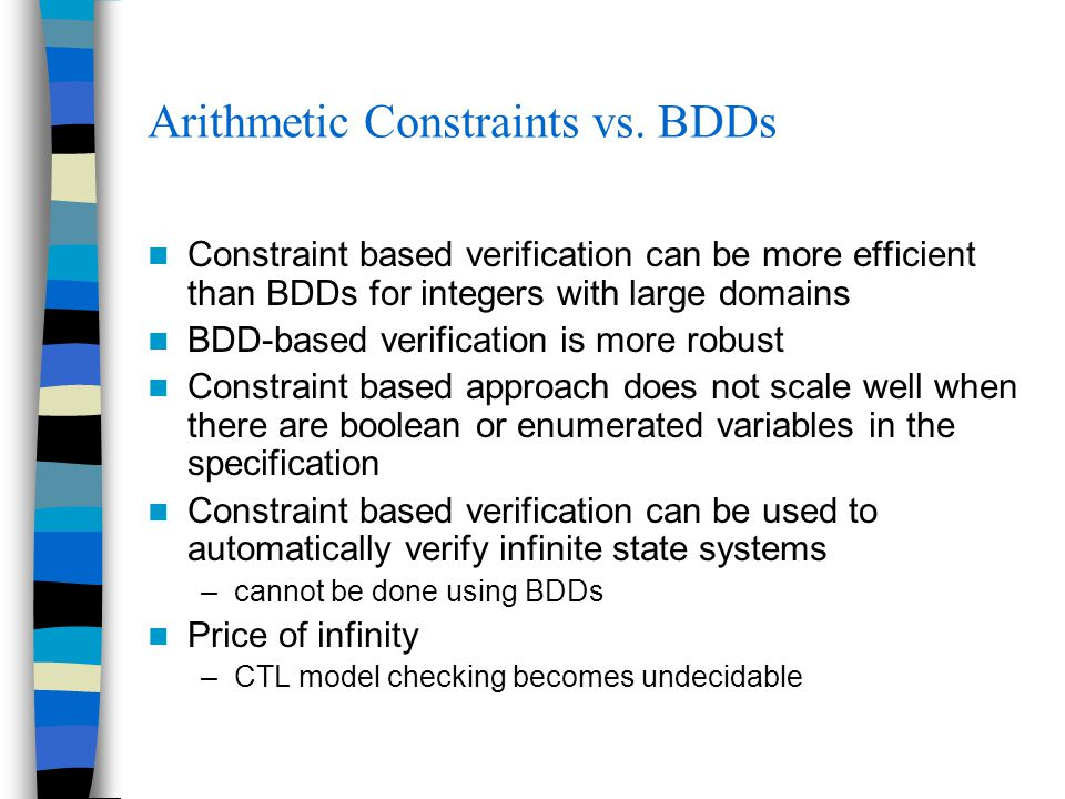 Arithmetic Constraints vs.