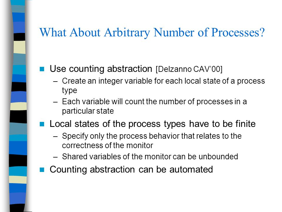 What About Arbitrary Number of Processes.
