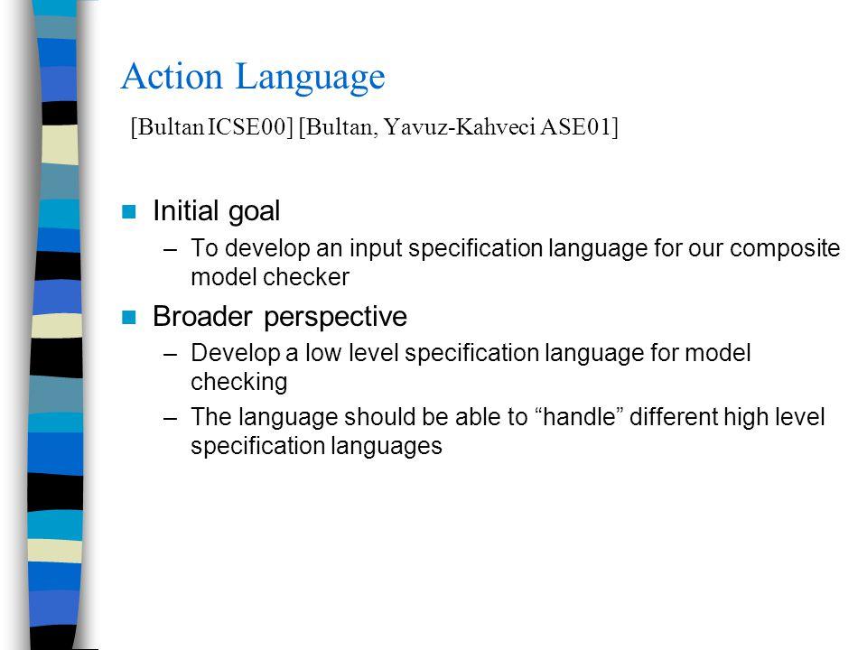 Outline Specification Language: Action Language –Synchronous vs.