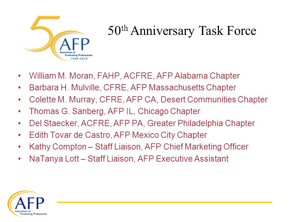 William M. Moran, FAHP, ACFRE, AFP Alabama Chapter Barbara H.