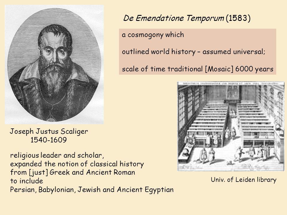 Joseph Justus Scaliger 1540-1609 De Emendatione Temporum (1583) Univ.