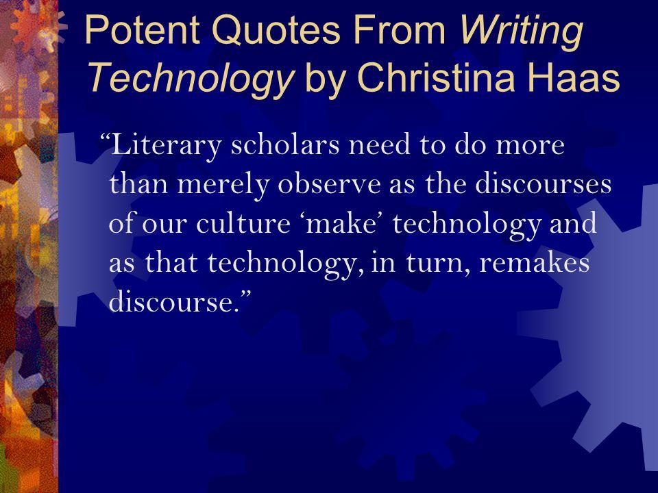 Technology Studies.