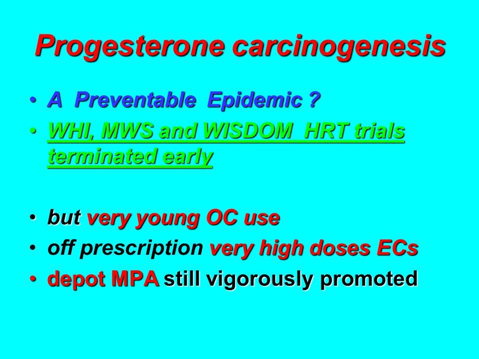 Progesterone carcinogenesis A Preventable Epidemic ?A Preventable Epidemic .