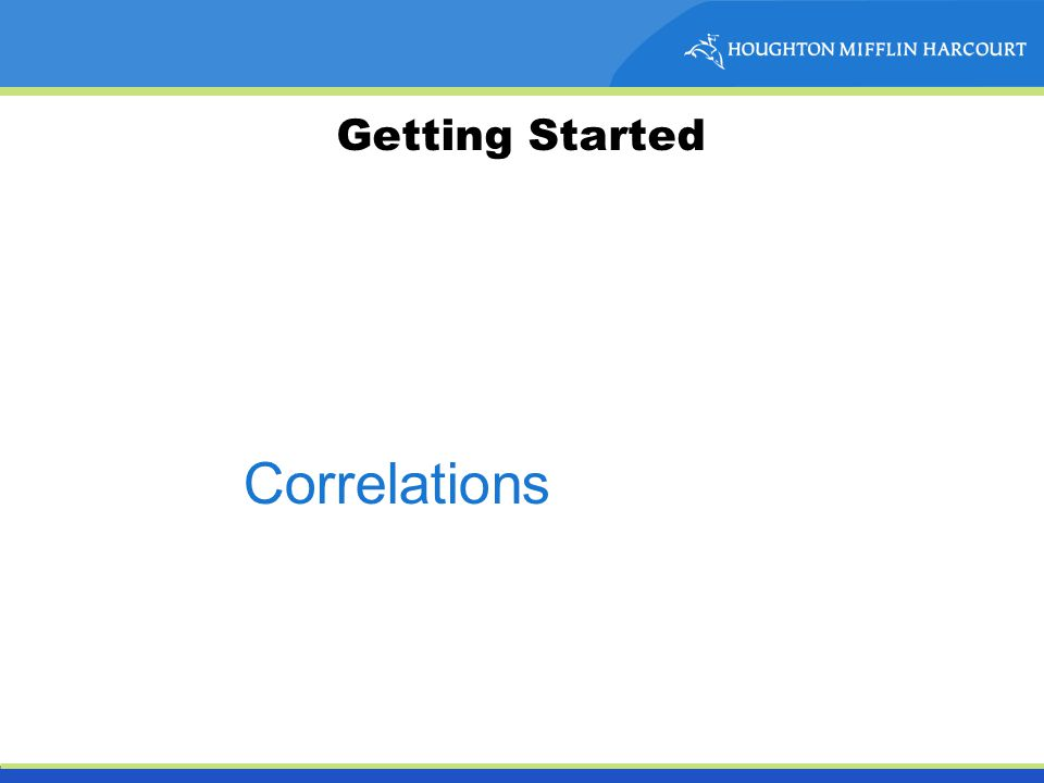 Getting Started Correlations