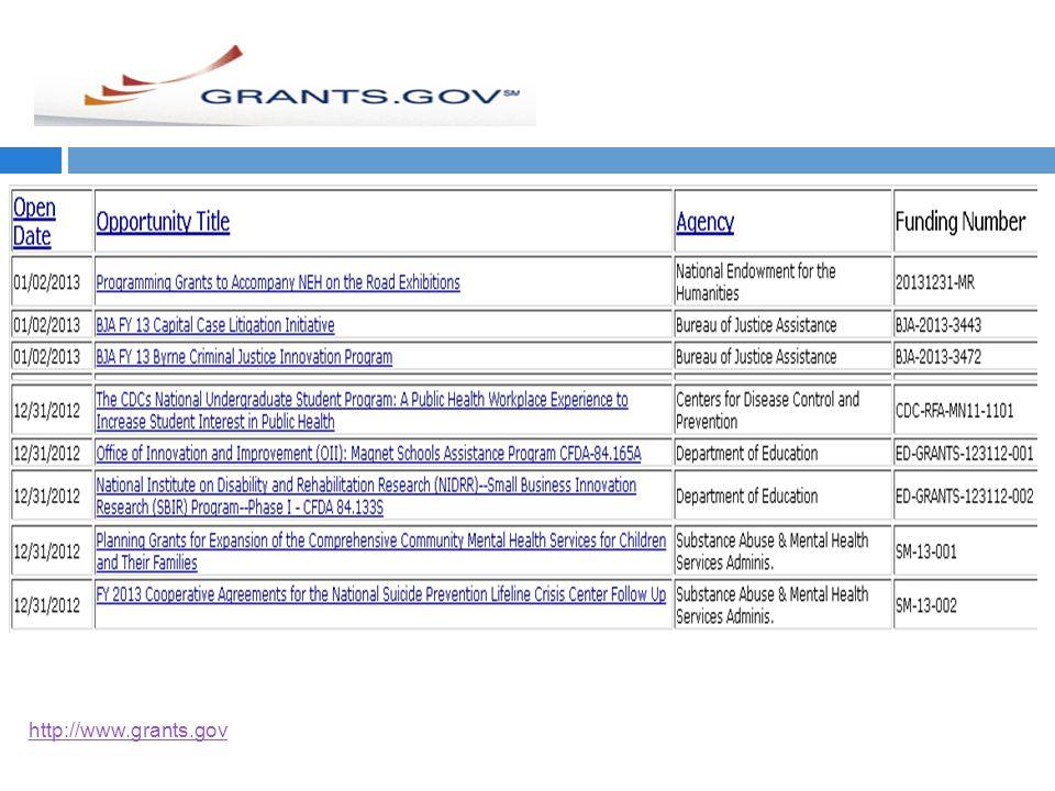 http://www.grants.gov