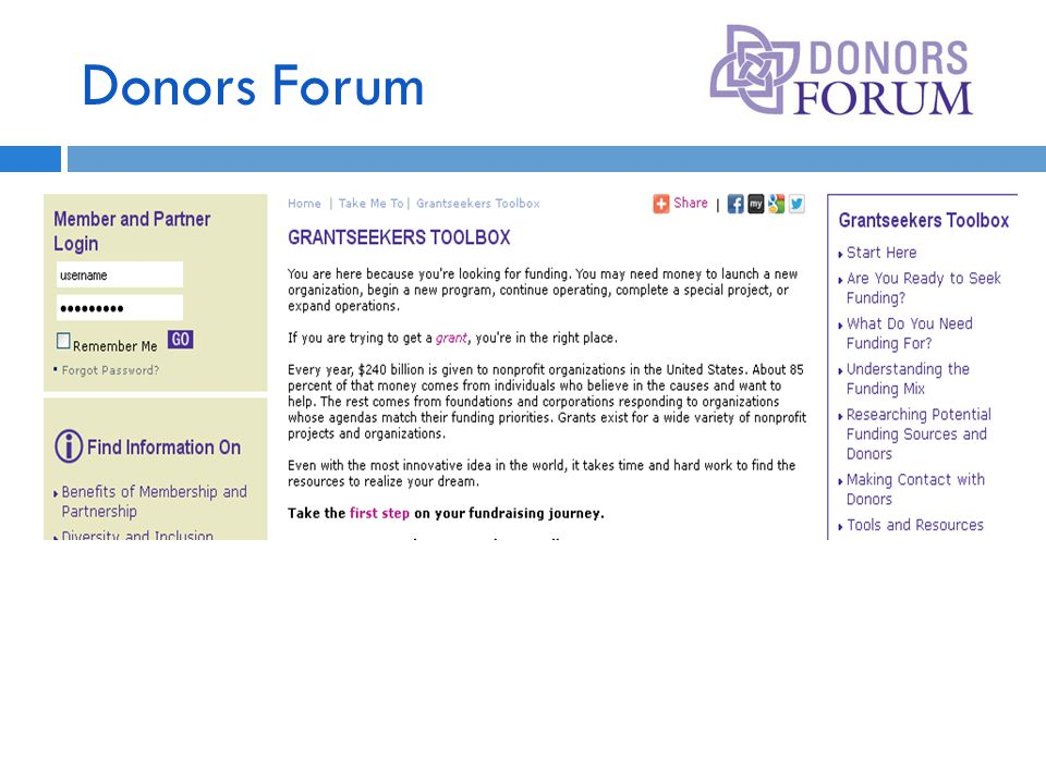 Donors Forum