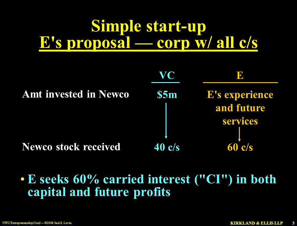 KIRKLAND & ELLIS LLP NWU Entrepreneurship Conf — ©2006 Jack S.