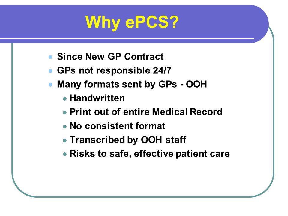 Why ePCS.