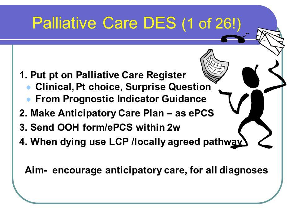 Palliative Care DES (1 of 26!) 1.
