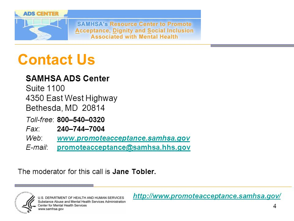 Disclaimer The views expressed in this training event do not necessarily represent the views, policies, and positions of the Center for Mental Health Services (CMHS), the Substance Abuse and Mental Health Services Administration (SAMHSA), or the U.S.