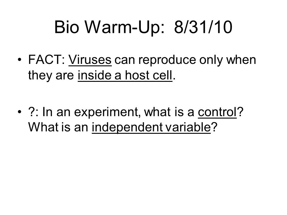 E/E Warm-Up #2: 9/7/10 FACT: A biotic factor is a living thing, such as an oak tree.
