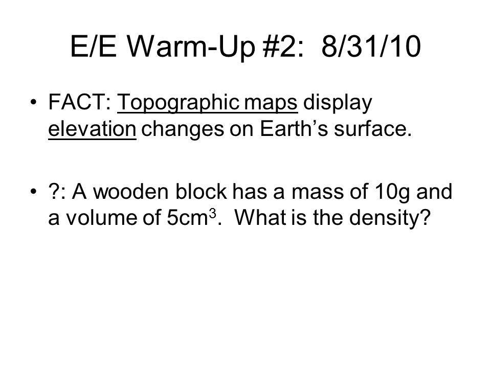 E/E Warm-Up: 10/20/10 FACT: The U.S.