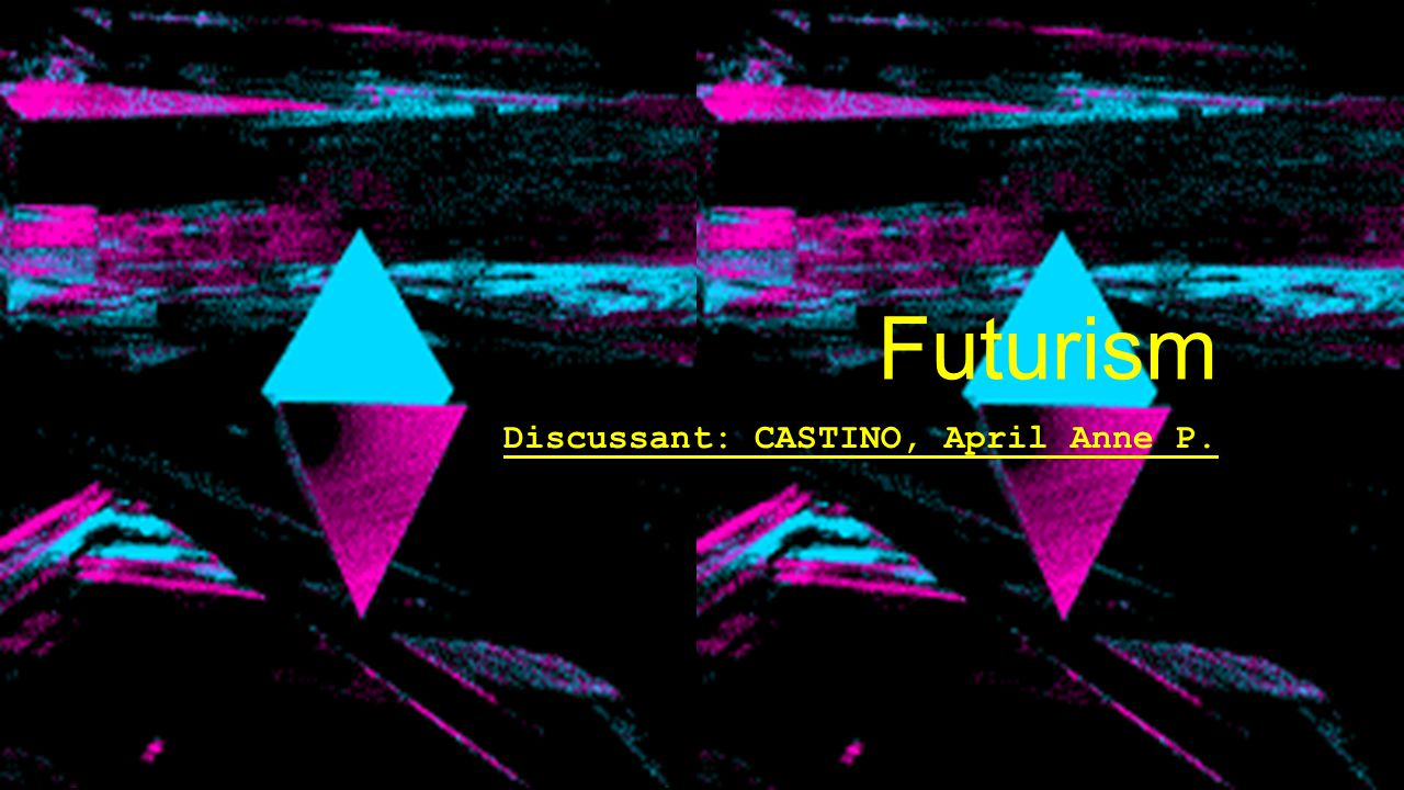 Futurism was an avant-garde art movement which was launched in Italy, in 1909.
