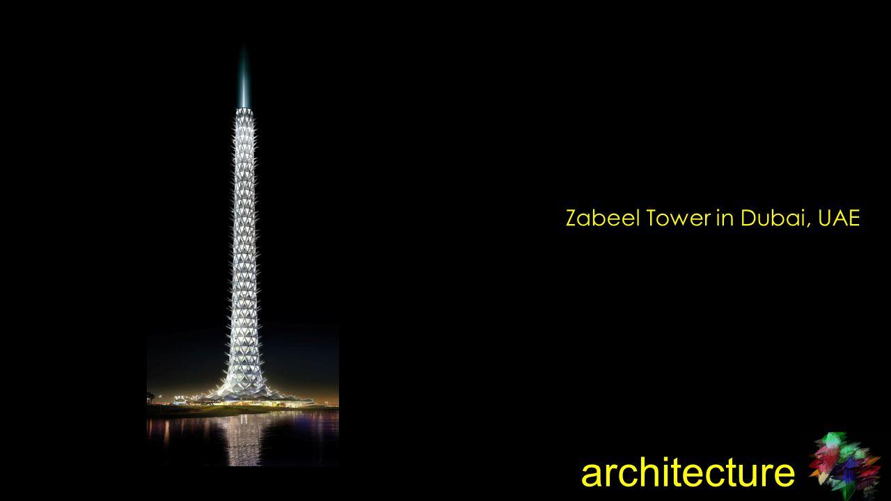 architecture Zabeel Tower in Dubai, UAE