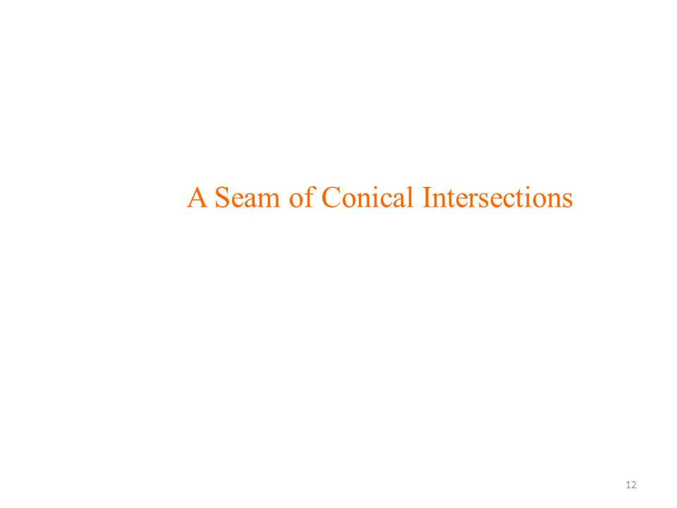 A Seam of Conical Intersections 12