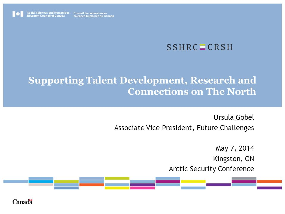 Moving Forward −Assessing research capacity in each challenge area −Identifying opportunities for knowledge mobilization −Encouraging research proposals among funding opportunities in Talent, Insight and Connection, including partnerships −Monitoring and Reporting; Identifying trends and emerging issues 5/2/201522