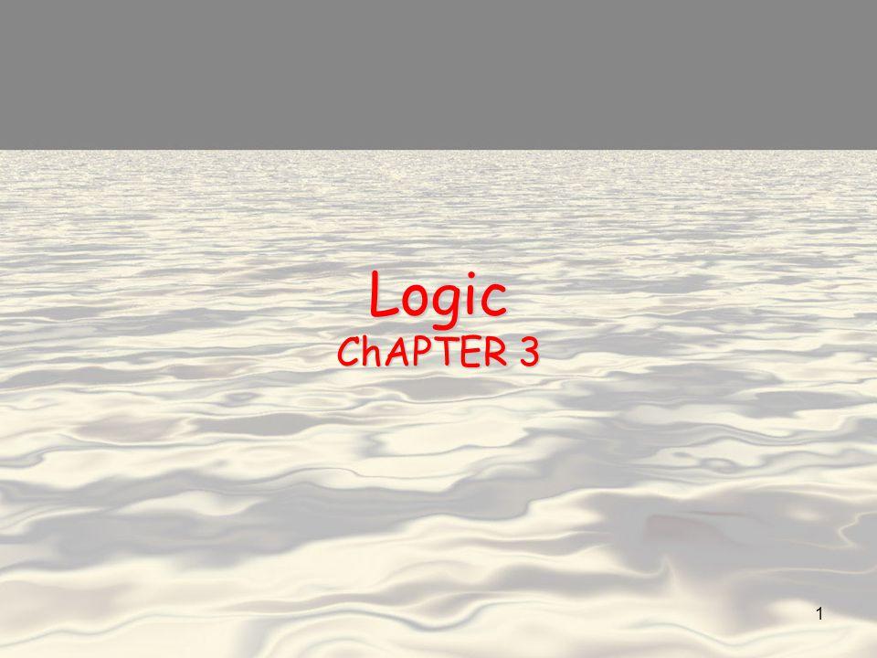 Logic ChAPTER 3 1