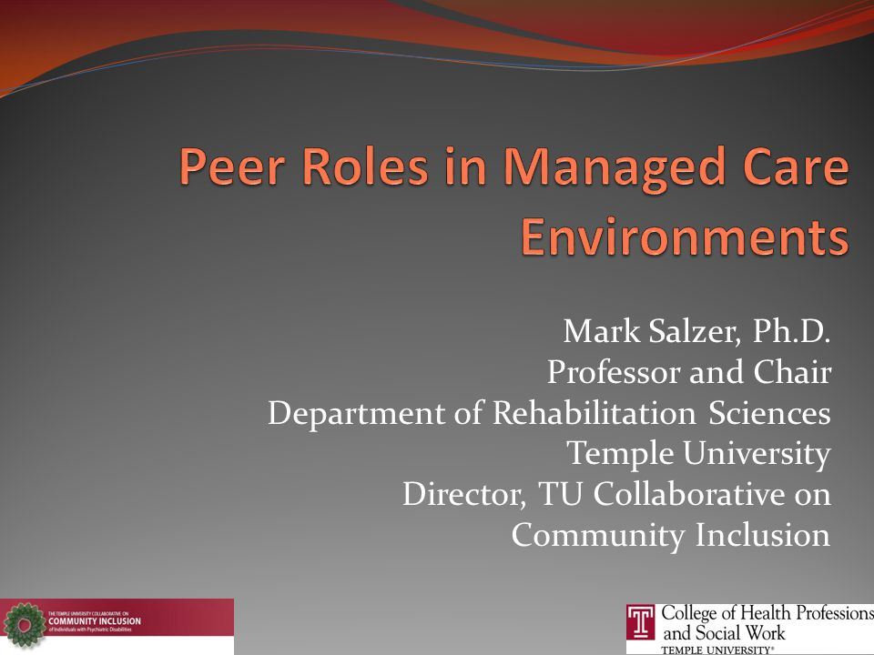 Mark Salzer, Ph.D.