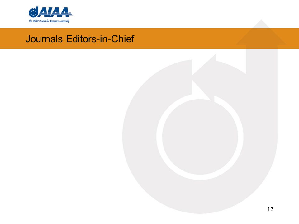 Journals Editors-in-Chief 13