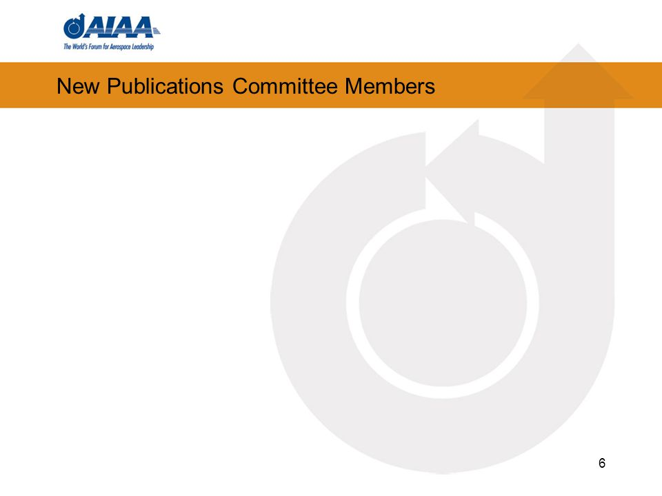 New Publications Committee Members 6