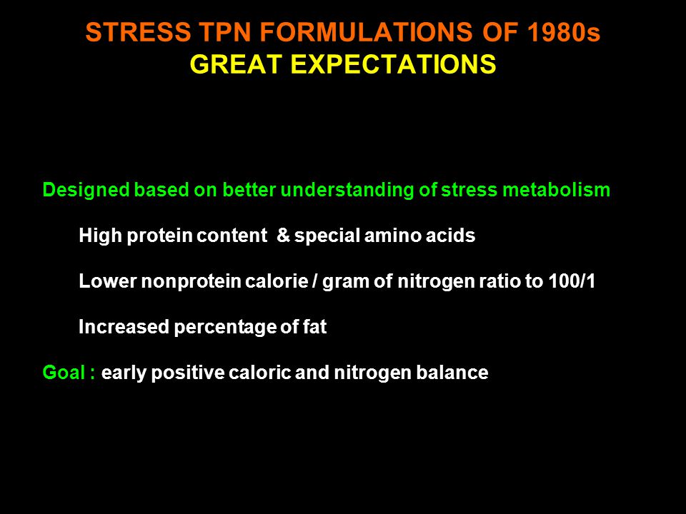 High protein content Branched chain amino acids Lower Nonprotien Calorie / Gram of Nitrogen Ratio Decrease from traditional 150/1 to 100/1 Increased P