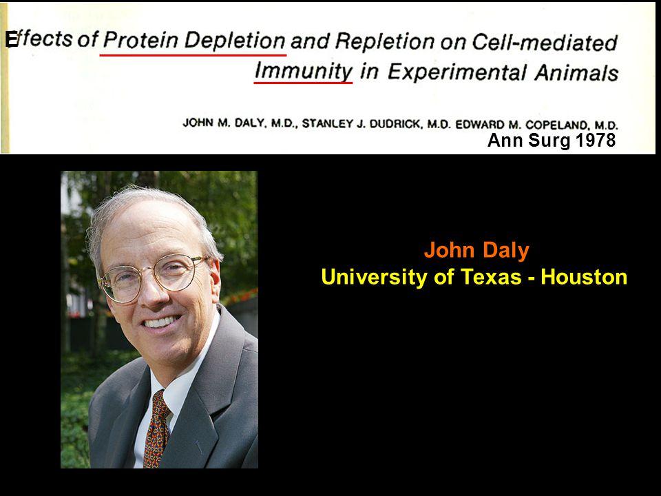 E John Daly University of Texas - Houston Ann Surg 1978