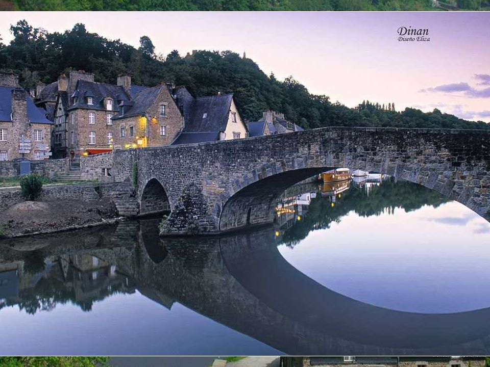 Dinan With almost three miles of walls, Dinan and the 14th century castle stand proudly along the river Rance. At the top, the half-timbered houses 