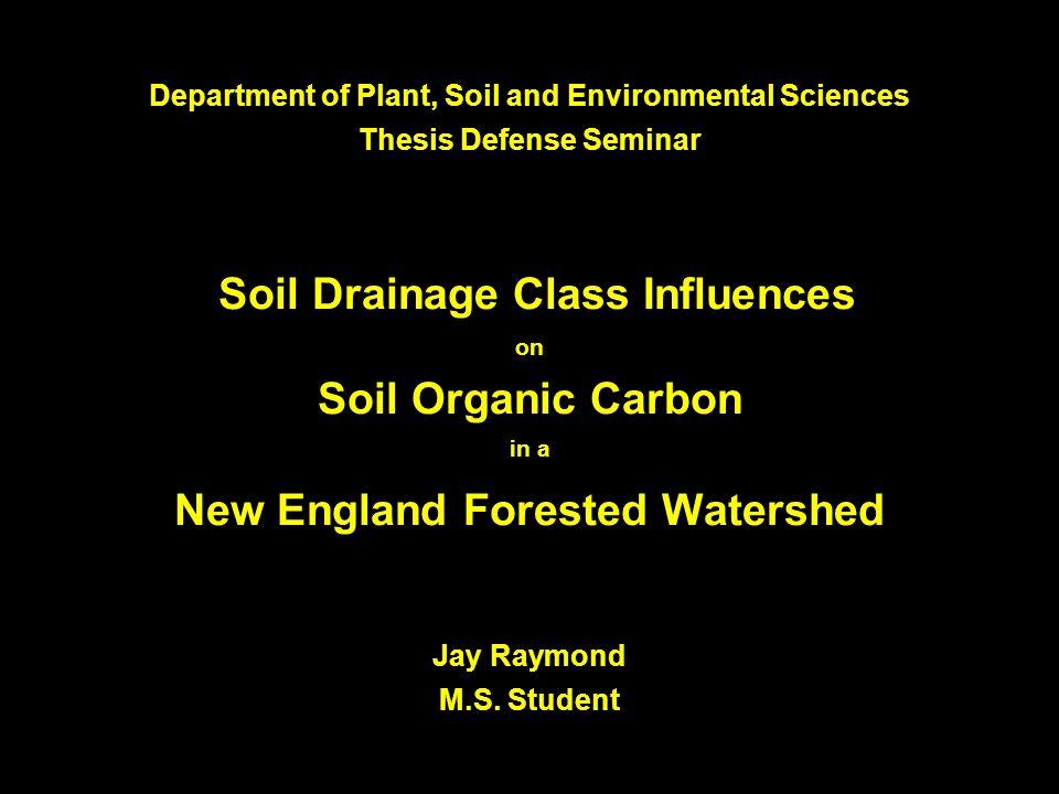 Acknowledgements Committee: Dr.Ivan J. Fernandez, Professor of Soil Science, Advisor Dr.
