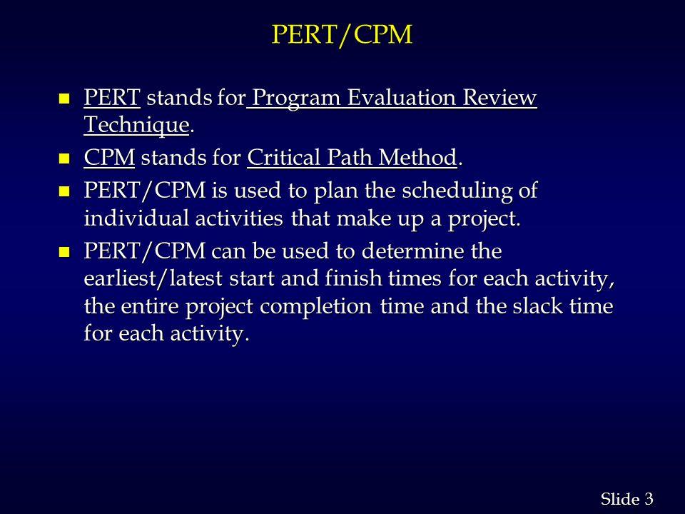 14 Slide Example: ABC Associates n Critical Path (A-C-F-I-K) 66 44 33 55 55 22 44 11 66 33 55 0 6 9 13 13 18 9 11 9 11 16 18 13 19 14 20 19 22 20 23 18 23 6 7 6 7 12 13 6 9 0 4 5 9 6 11 6 11 15 20
