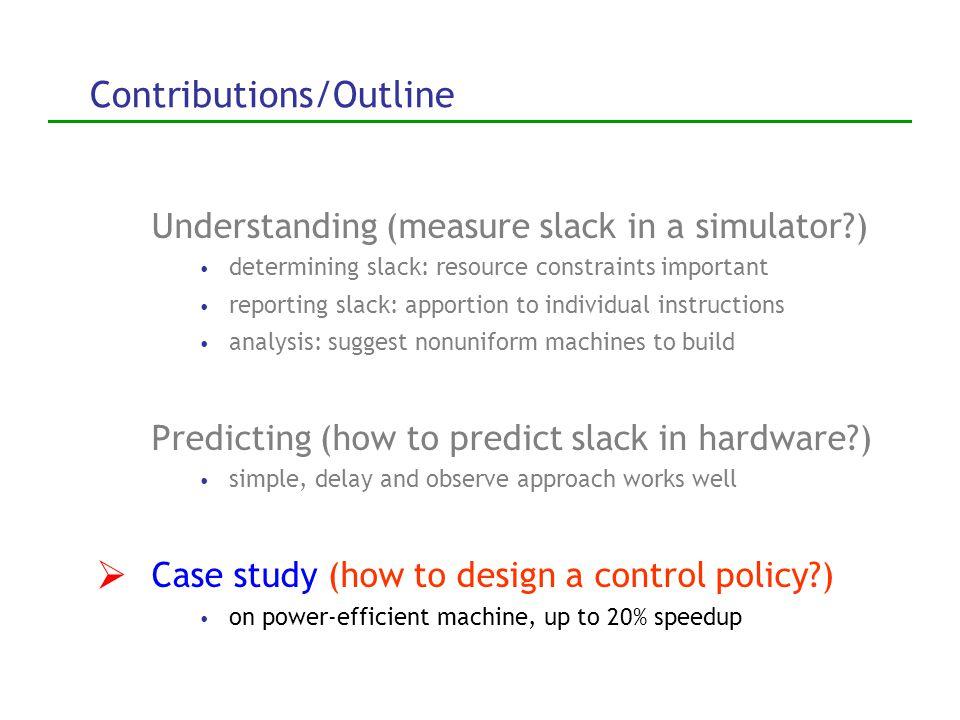 Two predictor designs 2.