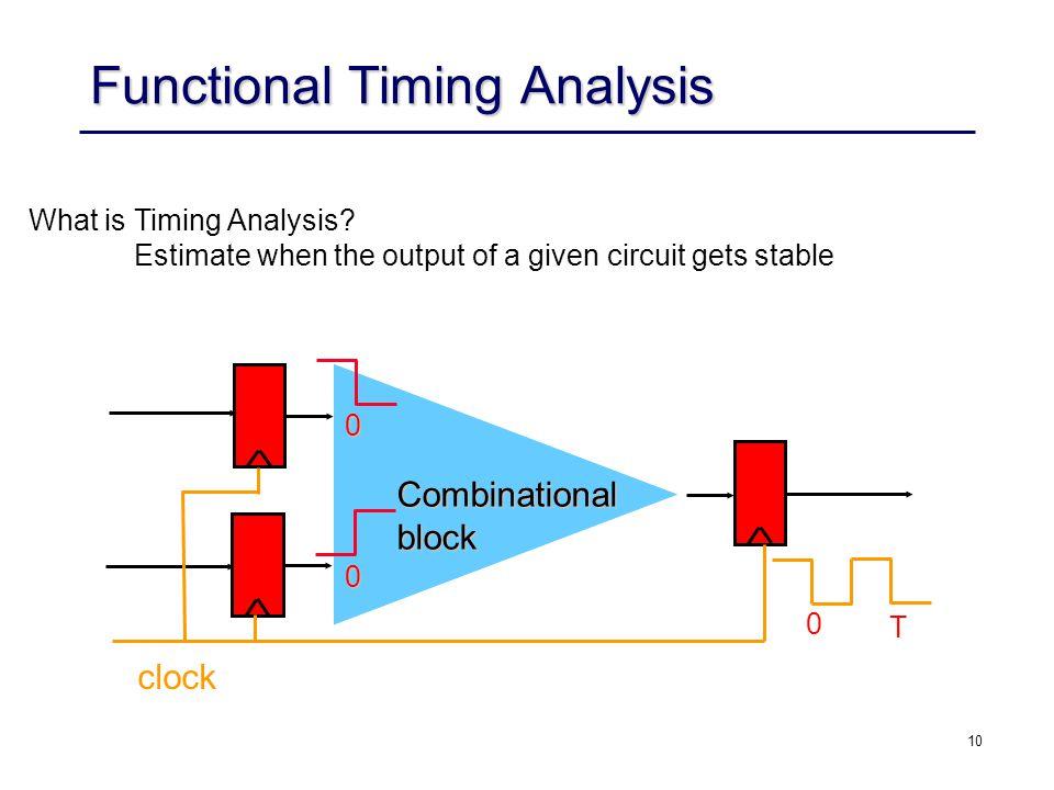 10 Functional Timing Analysis What is Timing Analysis.