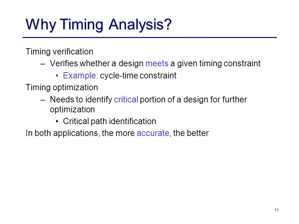 11 Why Timing Analysis.