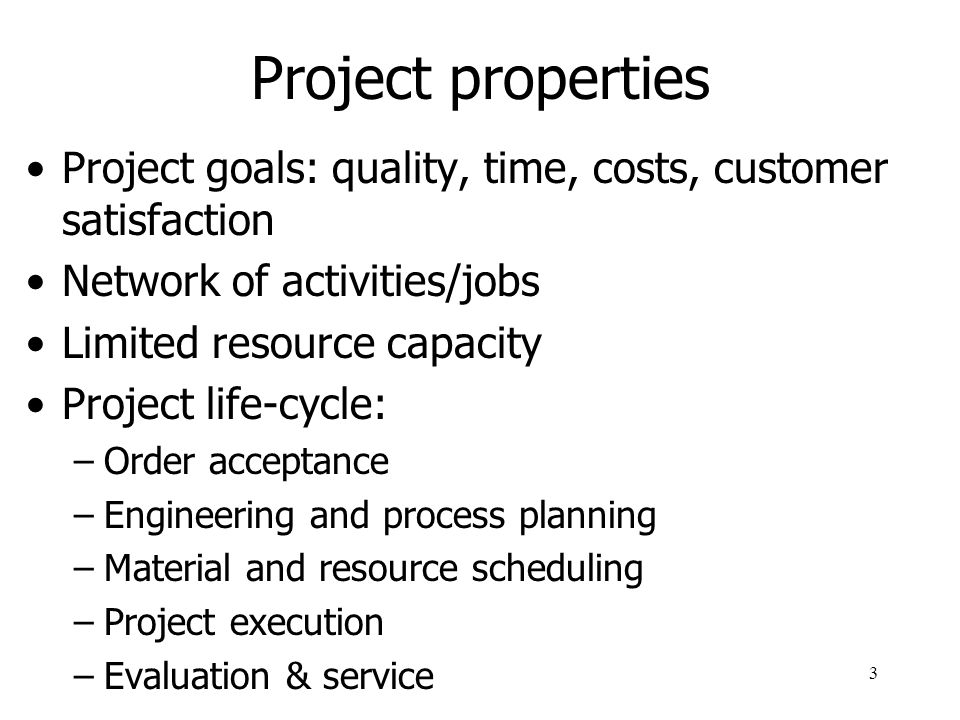 4 Project examples Construction Production Management Research Maintenance Installation, implementation
