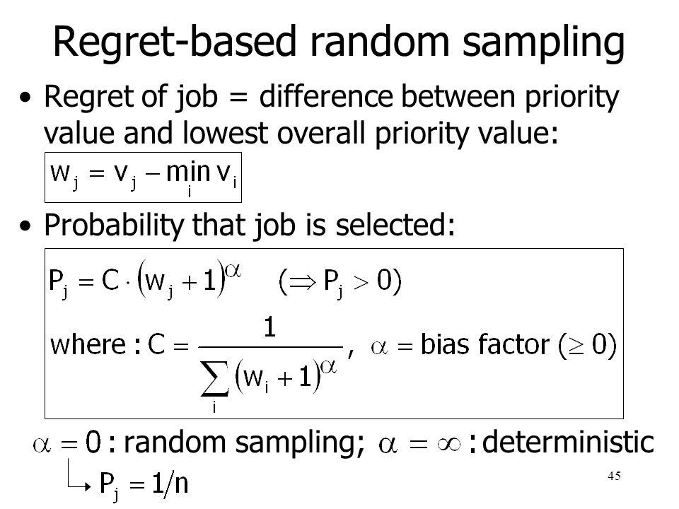 46 Regret-based random sampling (example)