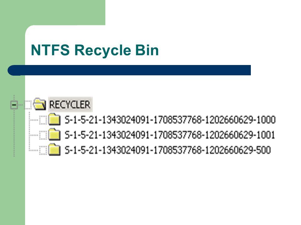 NTFS Recycle Bin