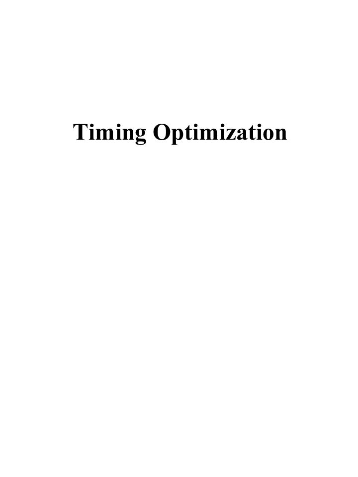 Timing Optimization