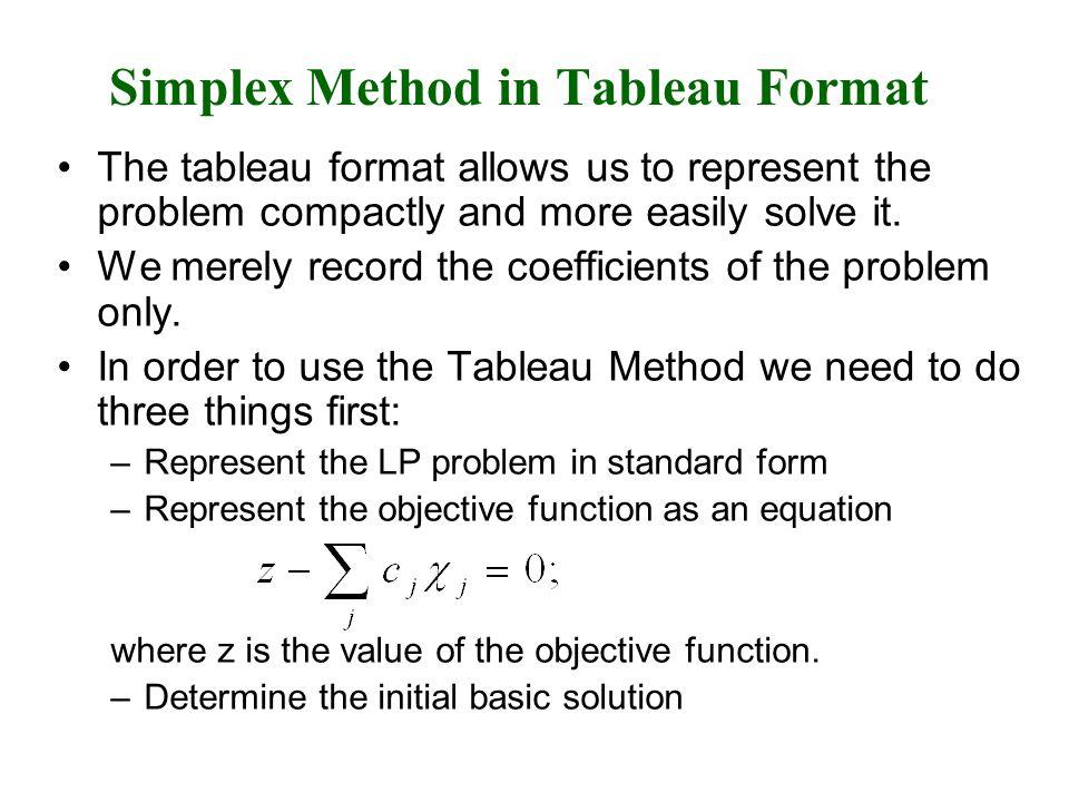 Simplex Solution of Minimization Problem
