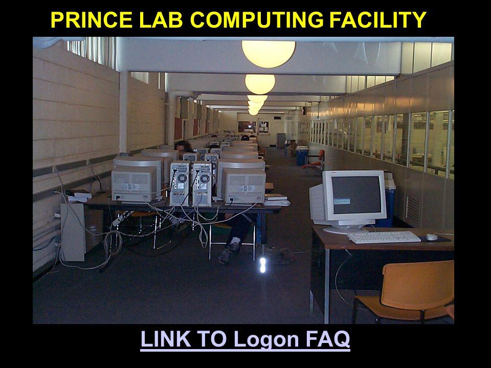 LINK TO Logon FAQ PRINCE LAB COMPUTING FACILITY