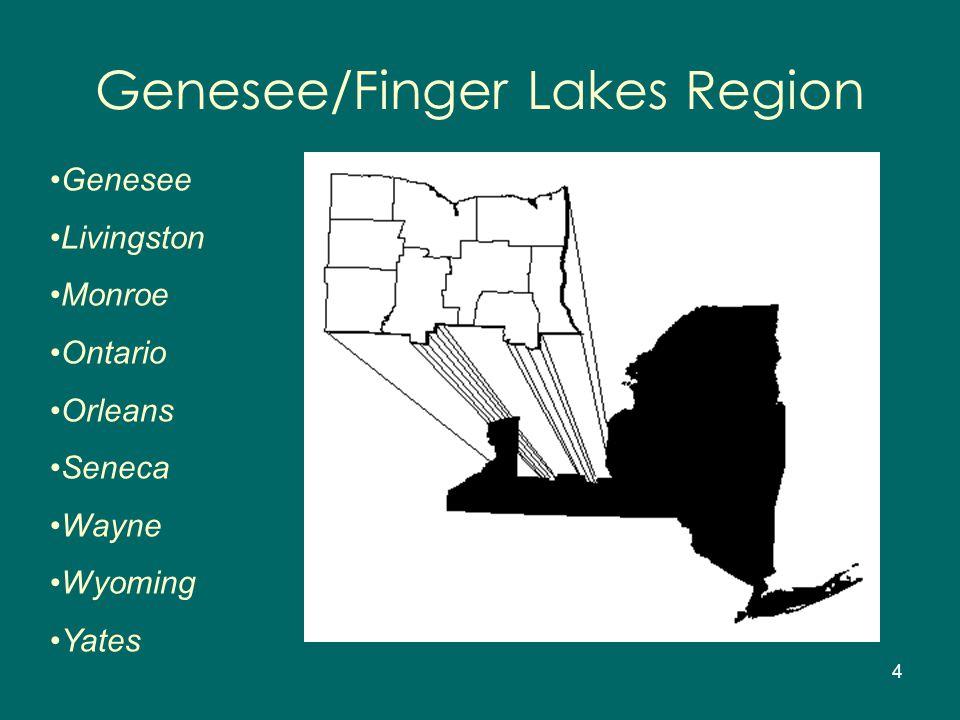 4 Genesee/Finger Lakes Region Genesee Livingston Monroe Ontario Orleans Seneca Wayne Wyoming Yates