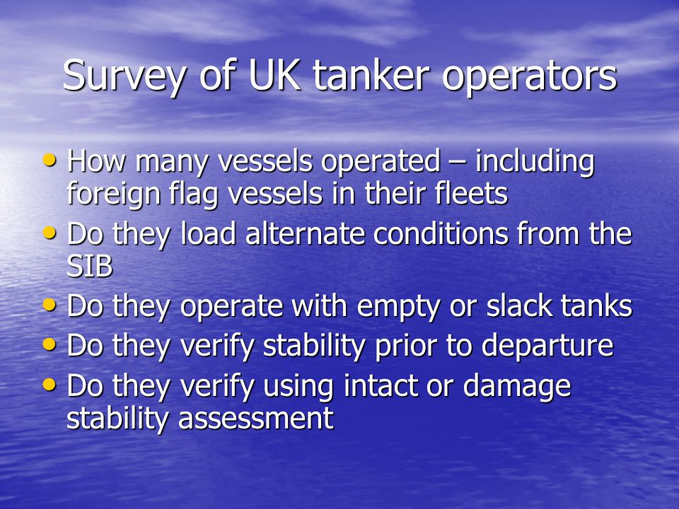 Significant Variation It is the opinion of the UK and its co-sponsors that the concept of a significant deviation from an approved loading condition requires to be defined.