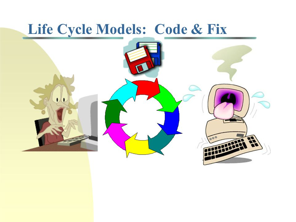 Life Cycle Models: Pure Waterfall Concept Design Requirements Analysis Architecture Design Detailed Design Coding & Debugging System Testing Source: S