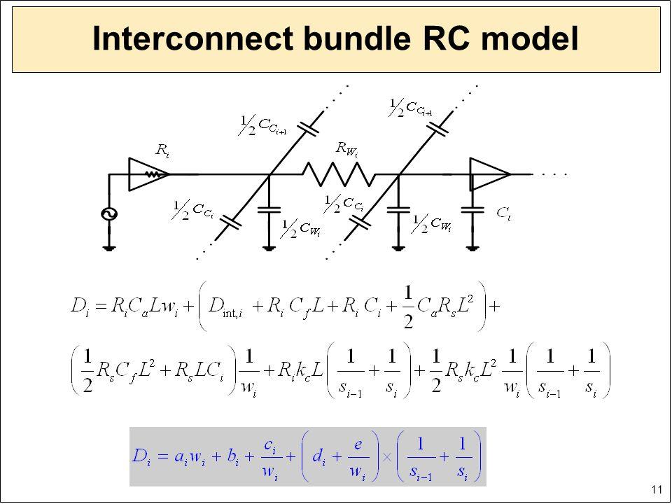 11 Interconnect bundle RC model
