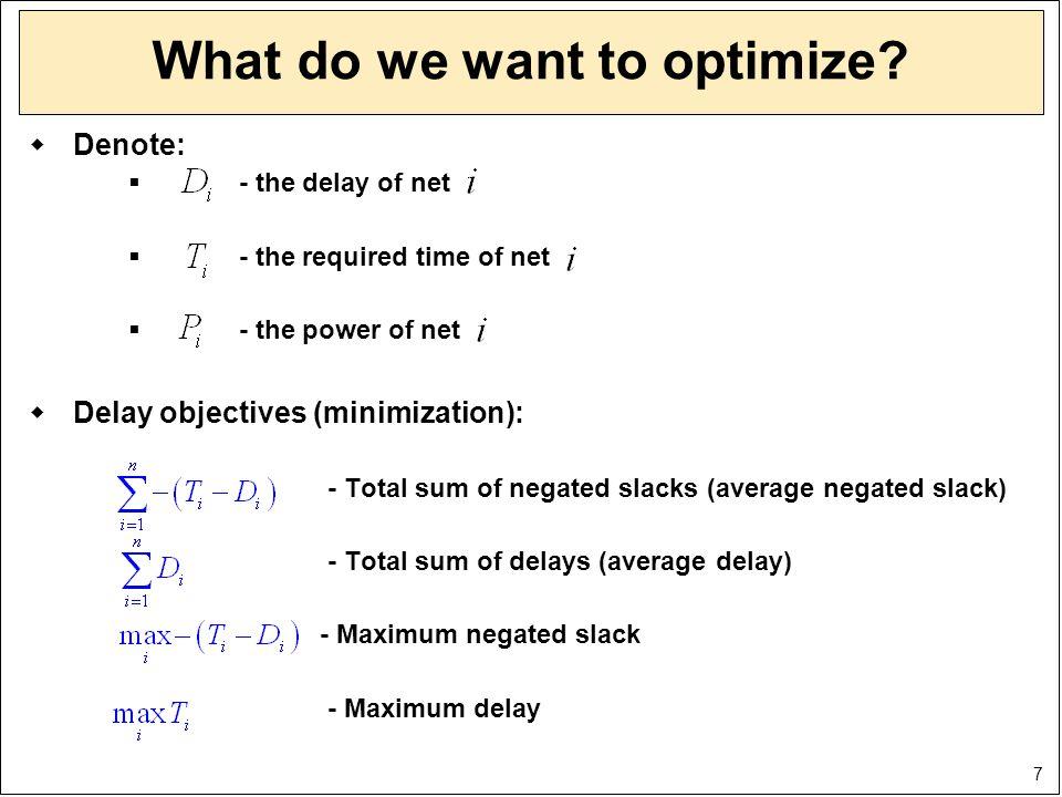 28 Optimization example: MinMax delay