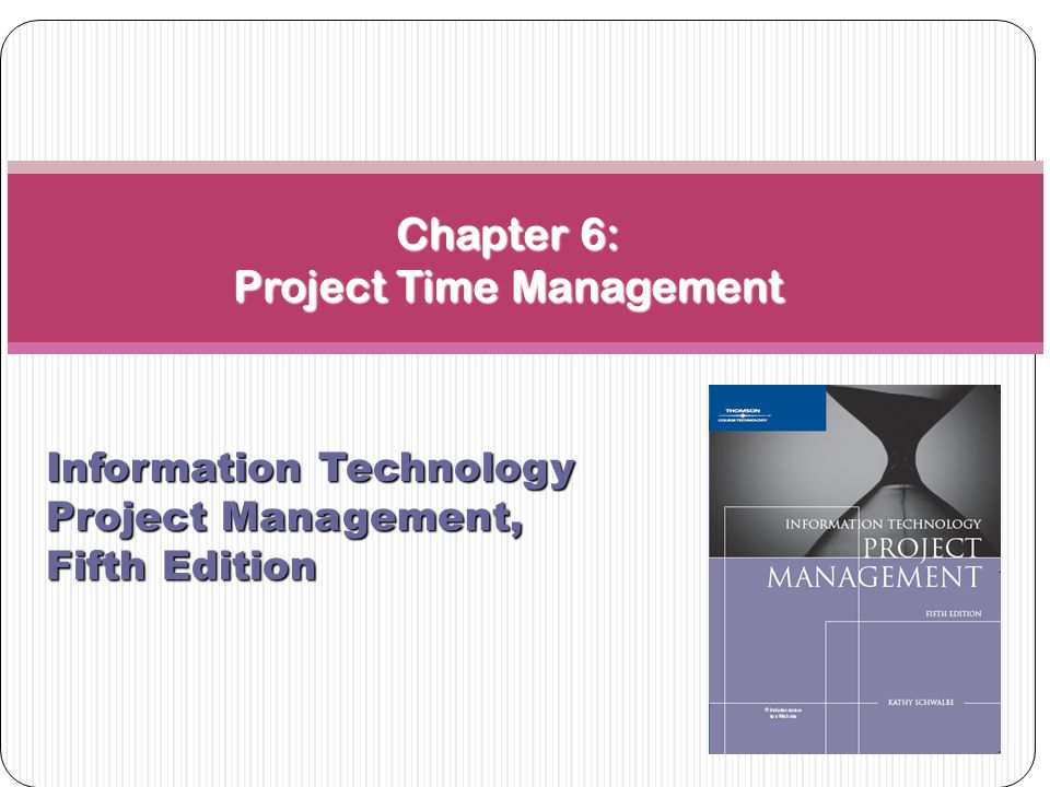 Importance of Project Schedules Managers often cite delivering projects on time as one of their biggest challenges Time has the least amount of flexibility; it passes no matter what happens on a project Schedule issues are the main reason for conflicts on projects, especially during the second half of projects 2 Project Time Management