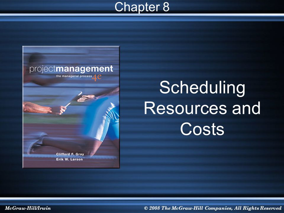 8-52 Critical Chain Project Management (CCPM)  Critical Chain is the sequence of both precedence- and resource-dependent activities that prevents a project from being completed in a shorter time, given finite resources.