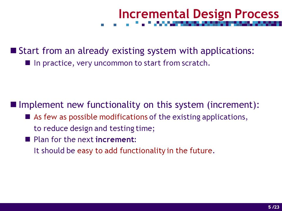 6 of 14 6 /23 Mapping and Scheduling No modifications are performed to the existing applications.