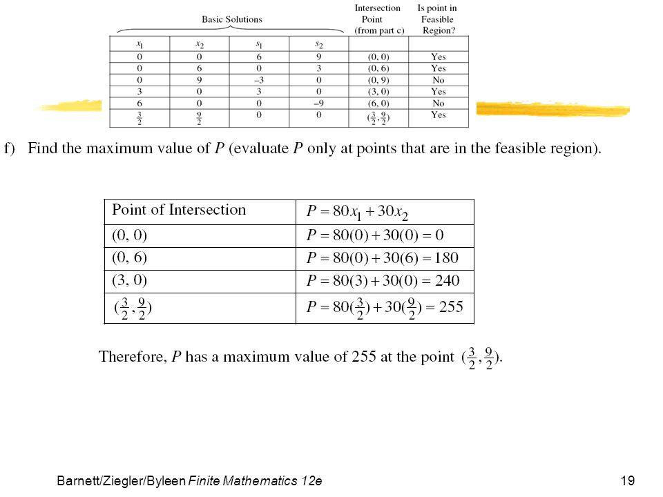 19Barnett/Ziegler/Byleen Finite Mathematics 12e
