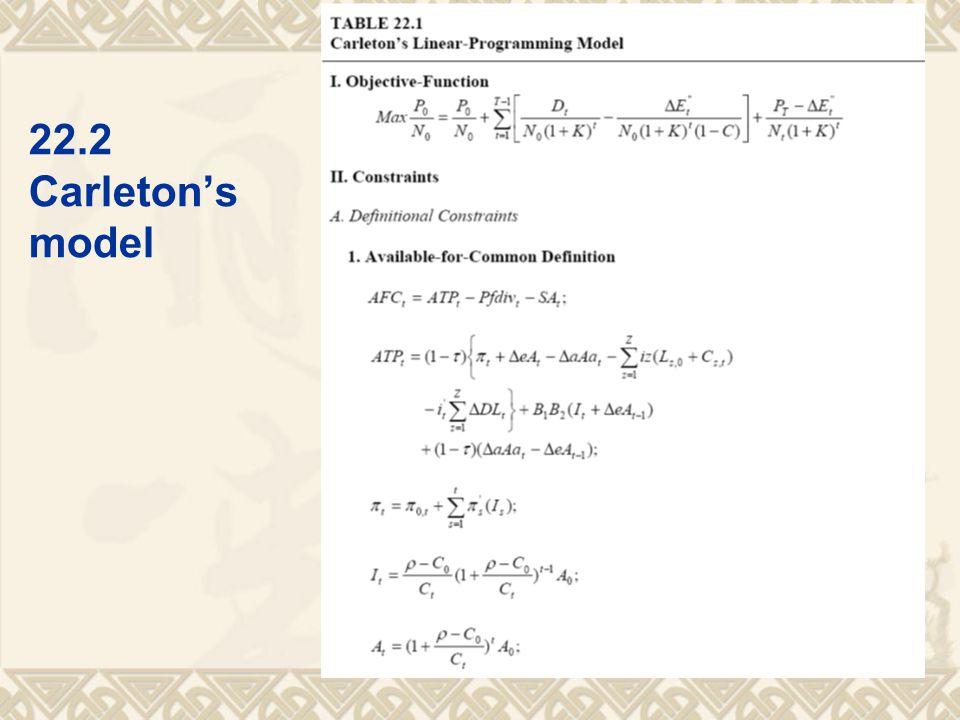 22.2 Carleton's model