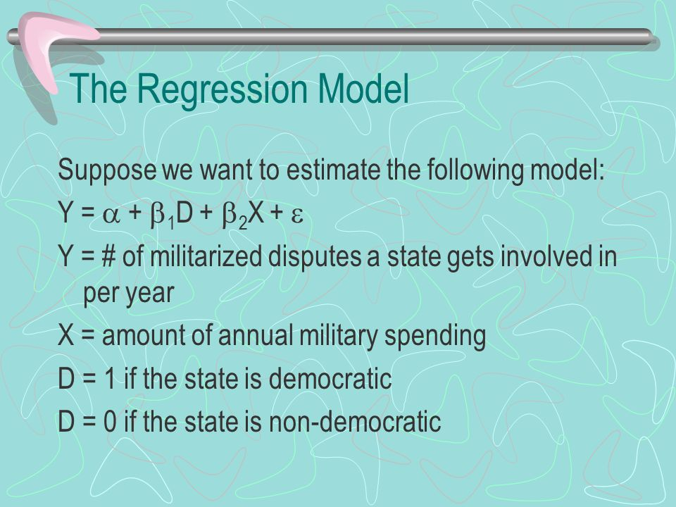 The Results We want to see if there is a difference between democratic and non-democratic regimes in terms of how many militarized disputes they get involved in.